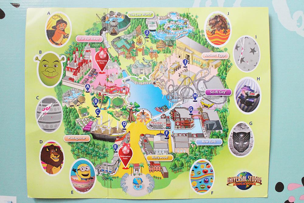 universtal studios egg quest map