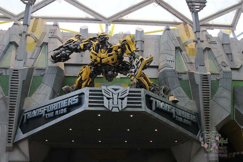 universal studios transformers the ride