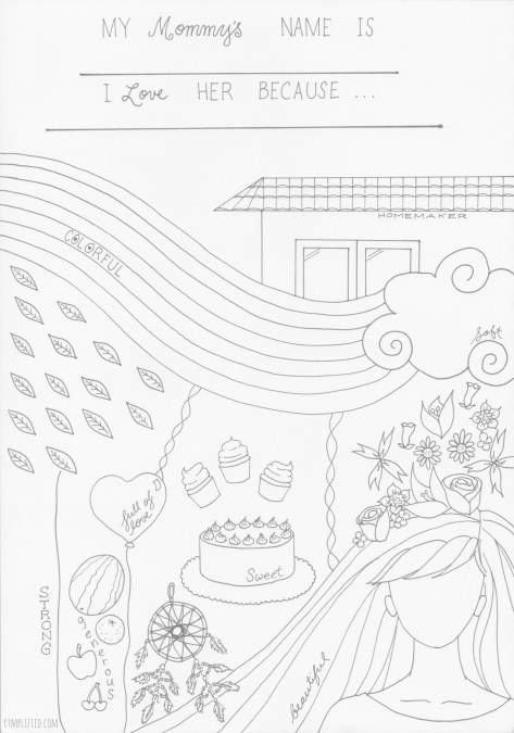 for mothers and kids to color