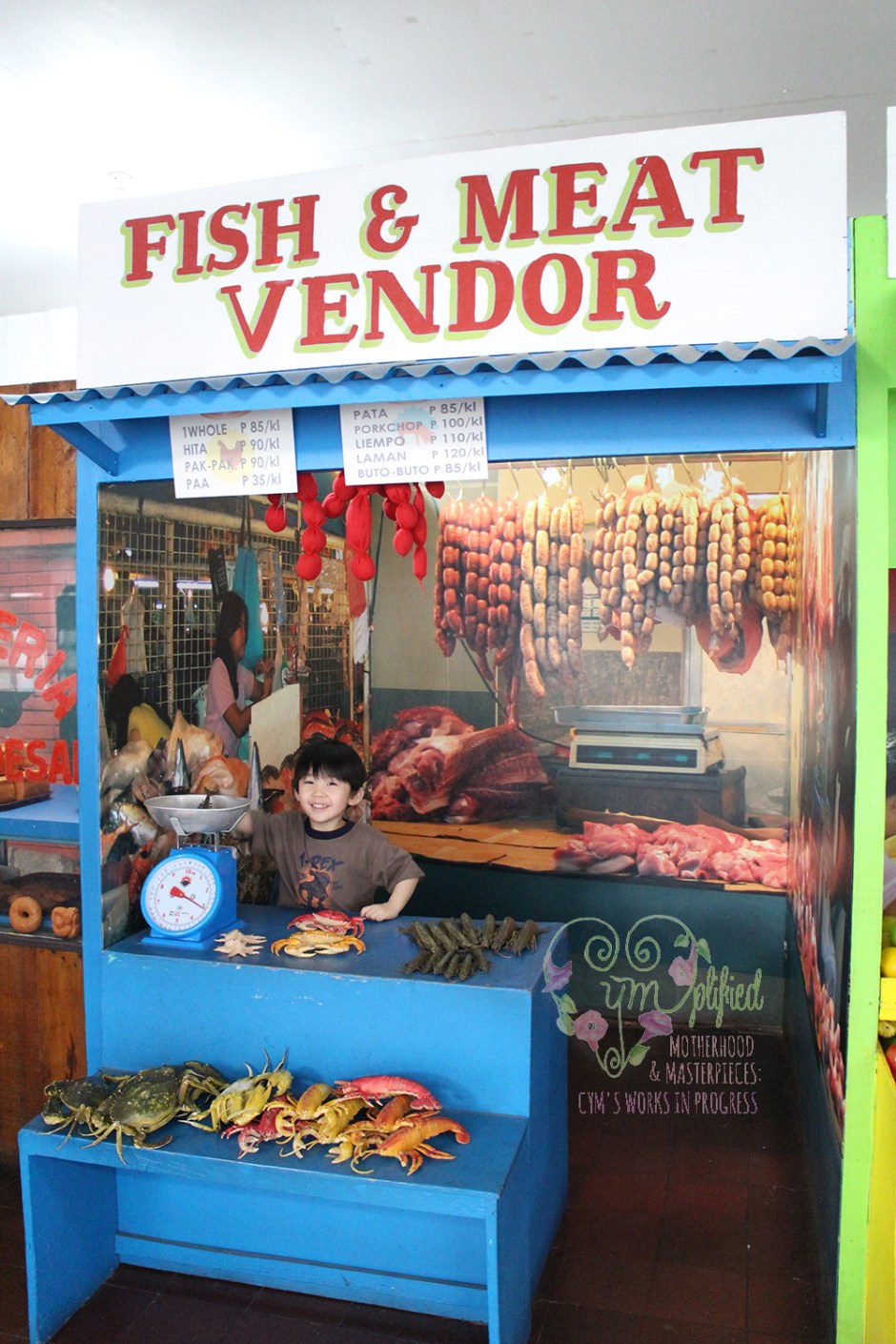 fish and meat vendor at museo pambata