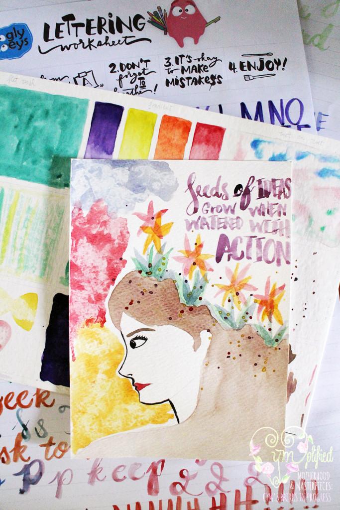 watercolor workshop project