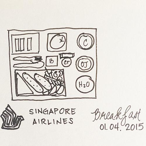 breakfast onboard singapore airlines