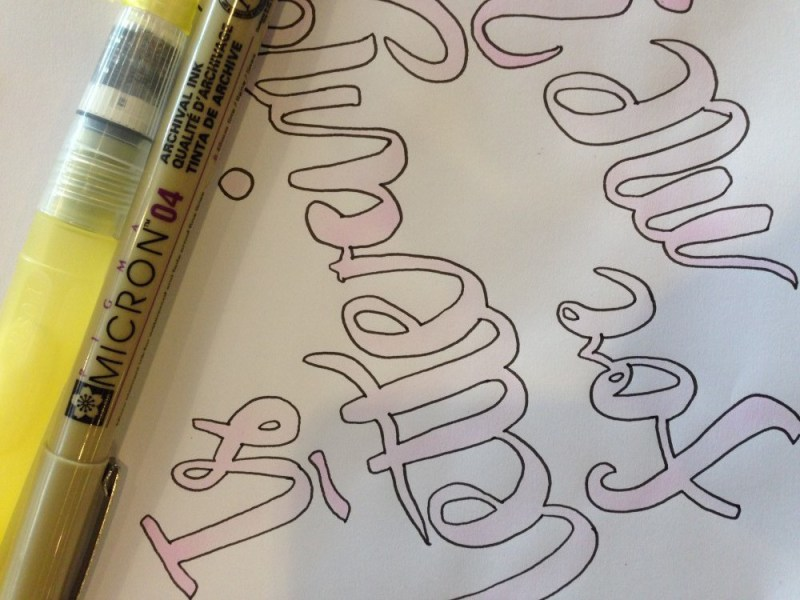 is hand lettering for me