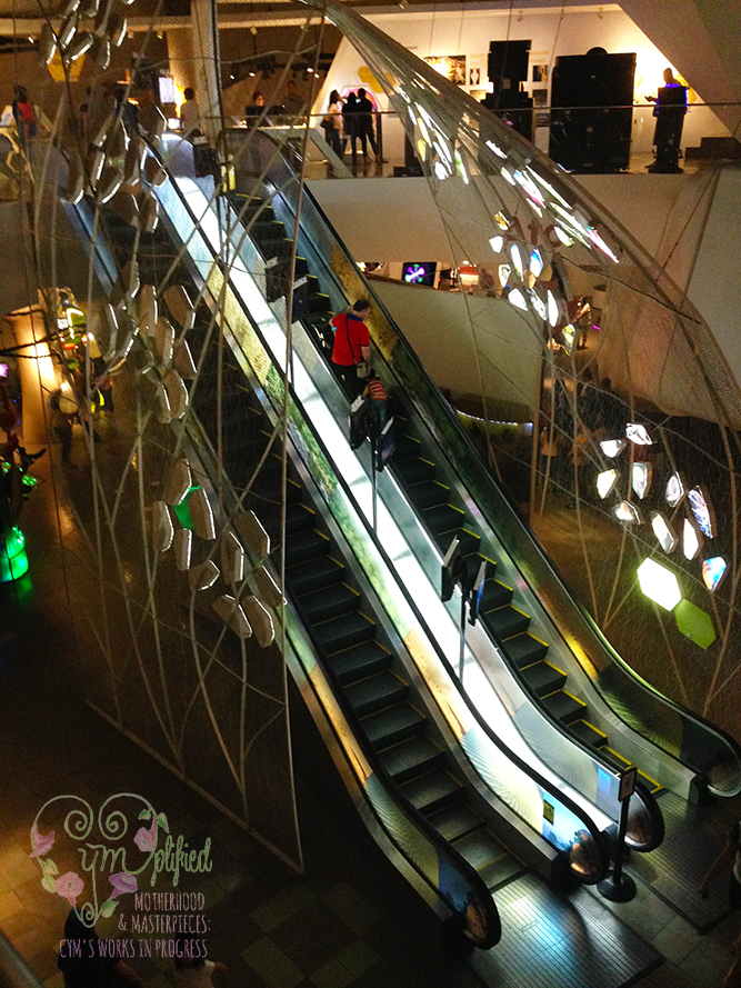 mind museum escalators