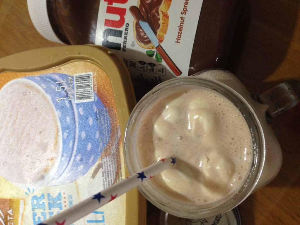no-blender nutella milkshake ingredients