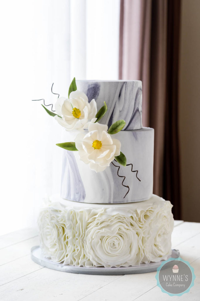 kim of wynne's cakes wedding creation