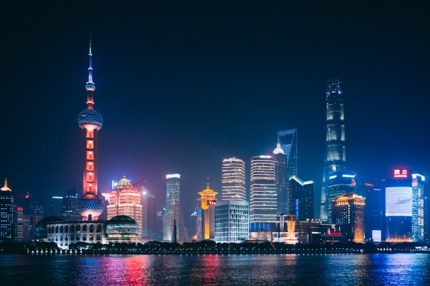 Shanghai the Bund night lights