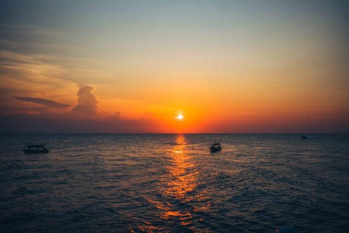 sunset at Tioman island