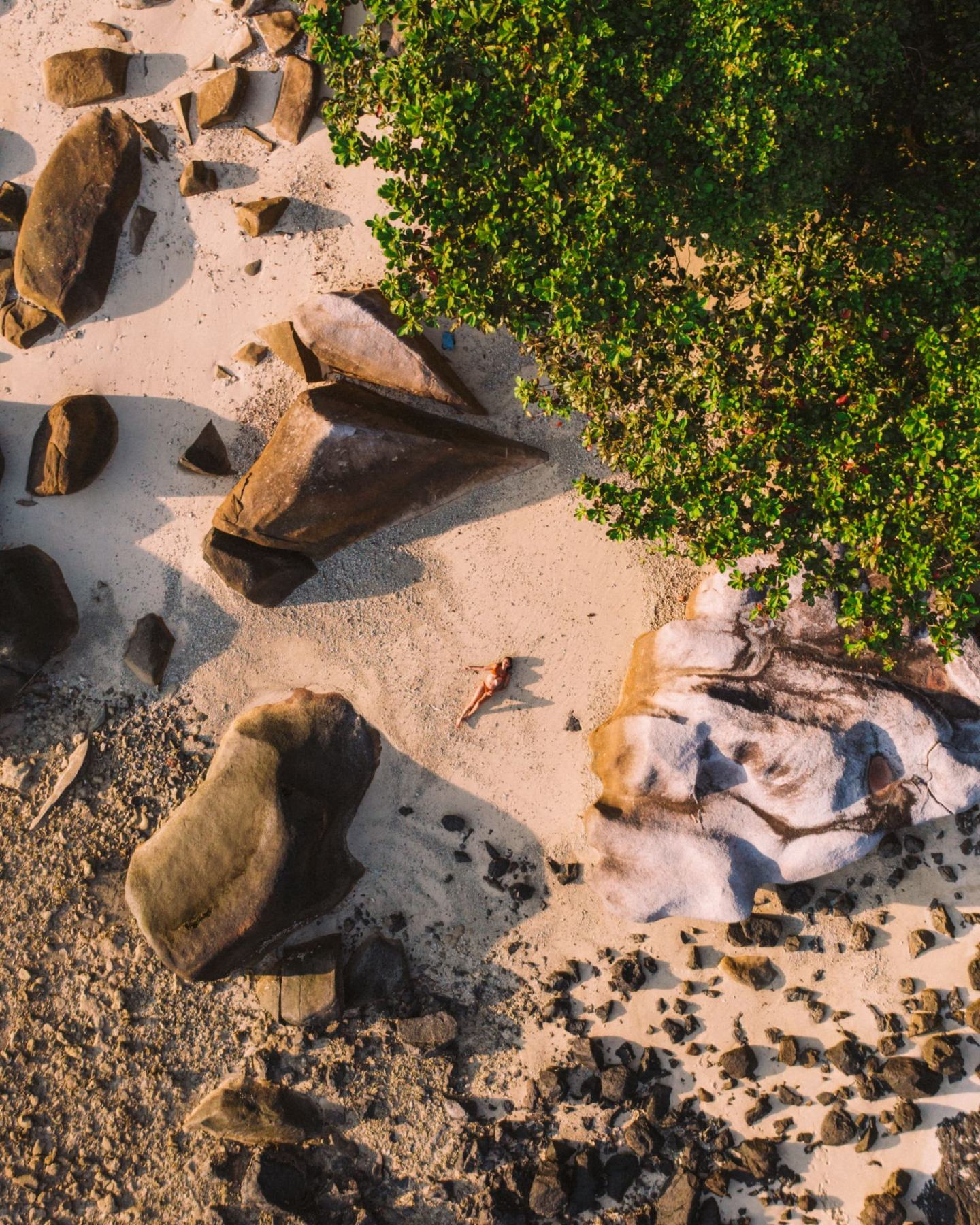 women sunbathing at the beach
