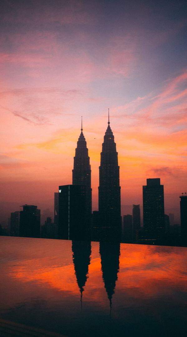 Petrona towers at sunset