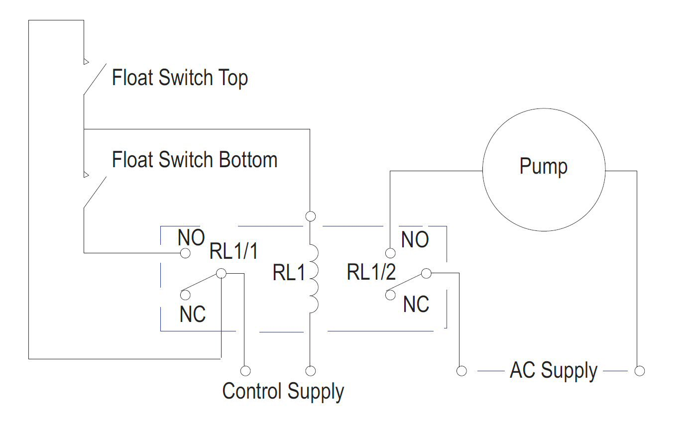hight resolution of how to create a pump control circuit to automatically empty a tank rh cynergy3 com septic tank float switch wiring water tank float switch circuit pdf