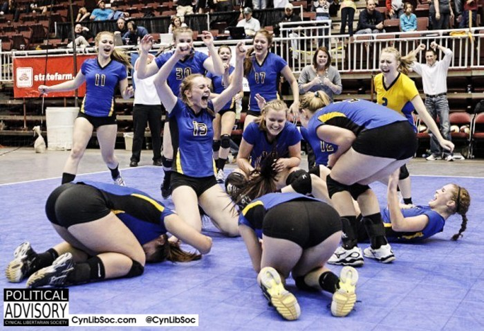 """Volleyball chycks are the best form of """"graphic sexual content"""" ever."""