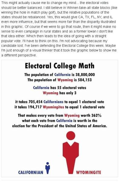 How about every state gets 1 electoral vote?