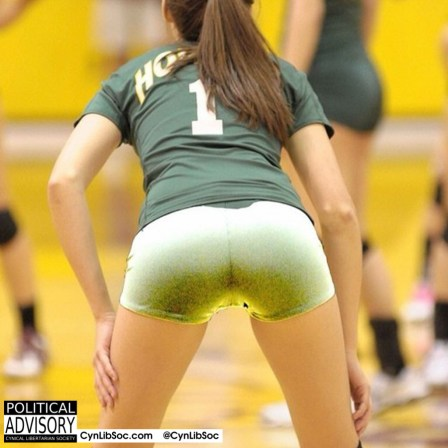 A volleyball chyck this hot don't work for free. She knows better.