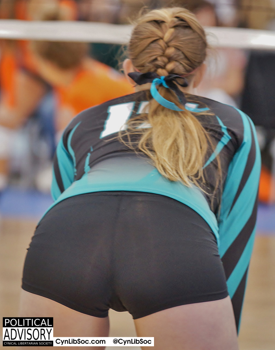 Volleyball chyck butt. Better than a CEO job any day.