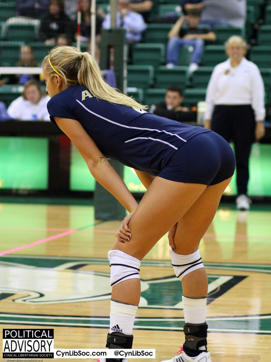 Volleyball chycks don't have to lie to get attention.