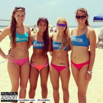 Four reasons to vote for volleyball chycks.
