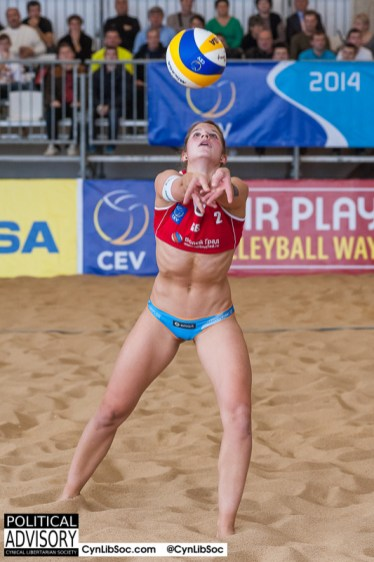 One inclusive hot volleyball chyck.