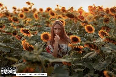 Call her Pope Sunflower.