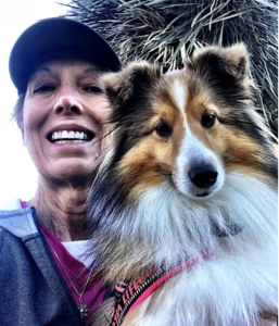 Sara Peterson and her Sheltie Zig-Zag