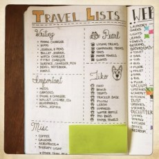 Bullet Journal Travel List
