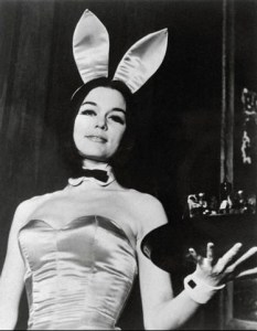 """Gloria in her """"underground"""" Playboy Bunny garb for her 1963 expose in SHOW Magazine."""