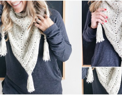 Crochet Triangle Scarf – Free Pattern!