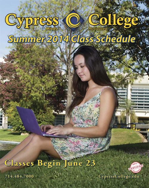 Cypress College Summer 2014 Class Schedule