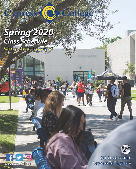 City Tech 2020 Fall Calendar.Schedule Of Classes And College Catalog Cypress College