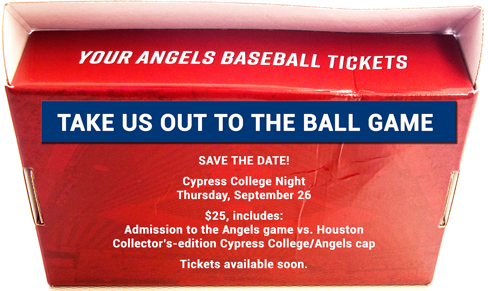 Announcing Cypress College Night at Angel Stadium on Sept. 26