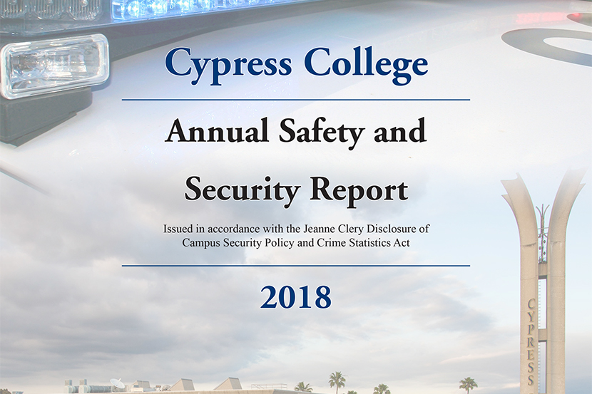 2018 Annual Safety and Security Report Cover
