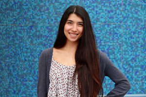 Kinesiology major Amber Stoebe is Cypress College's Outstanding Graduate for 2015.