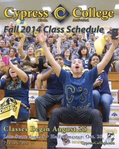 Cover of Cypress College Fall 2014 Class Schedule