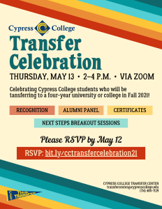 Transfer Celebration Flyer