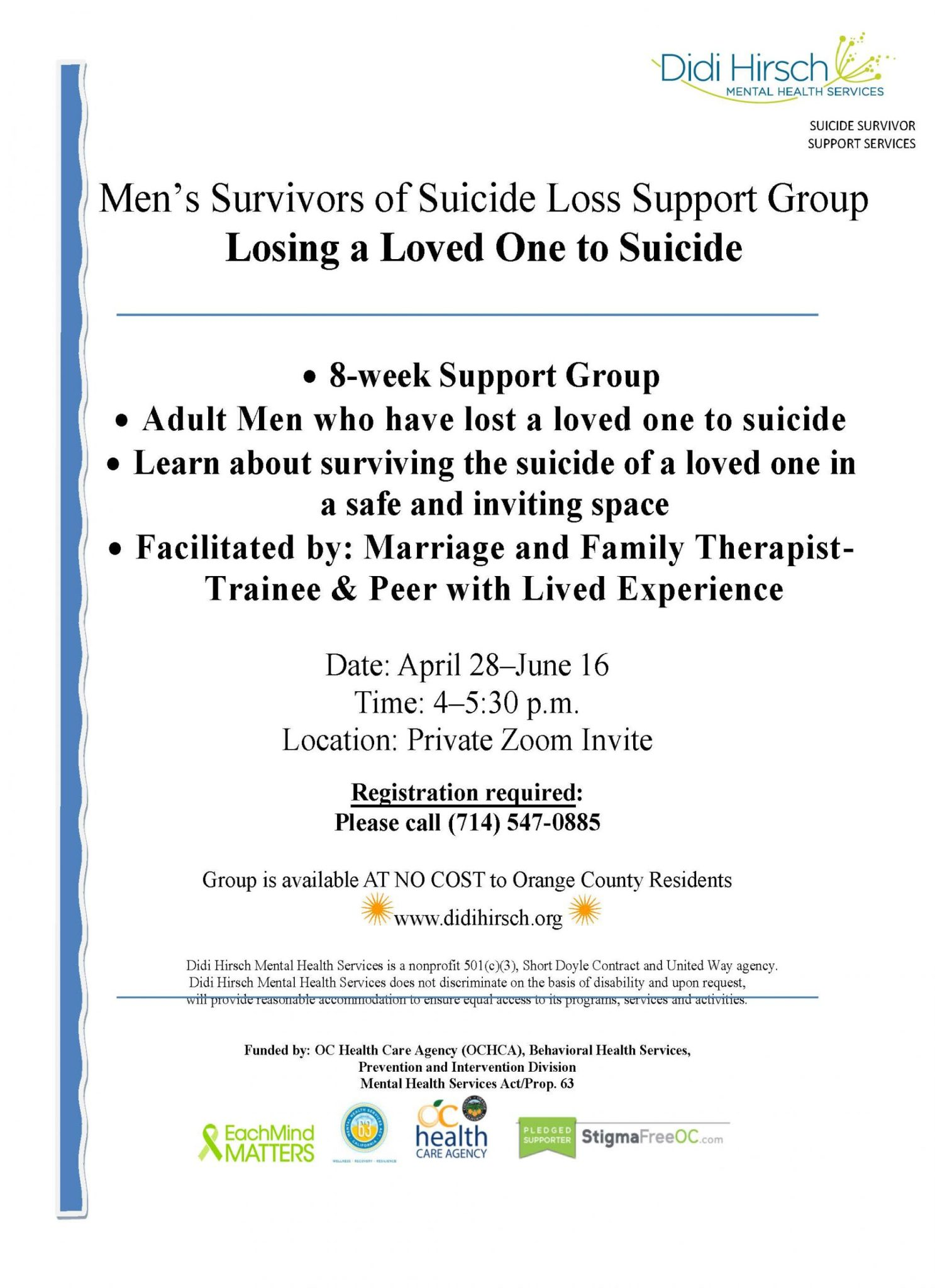 SAS Men's Group flyer