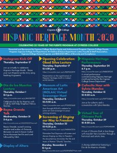 Hispanic Heritage Month flyer