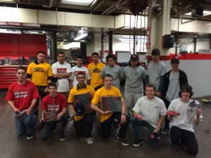 students who competed in Cypress College's High School Auto Competition #3