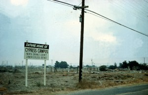 Land before Cypress College was constructed