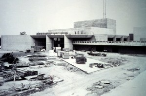 Buildings on campus under construction