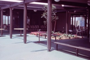 Covered outdoor area for sitting