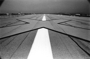 A large X on a runway