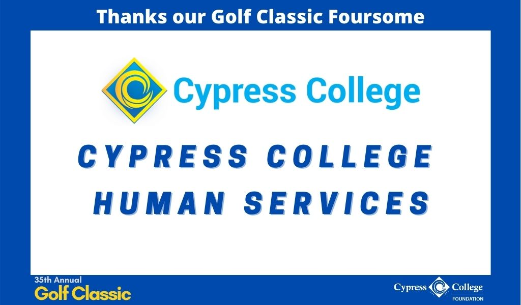 Cypress College logo with words Cypress College Human Services