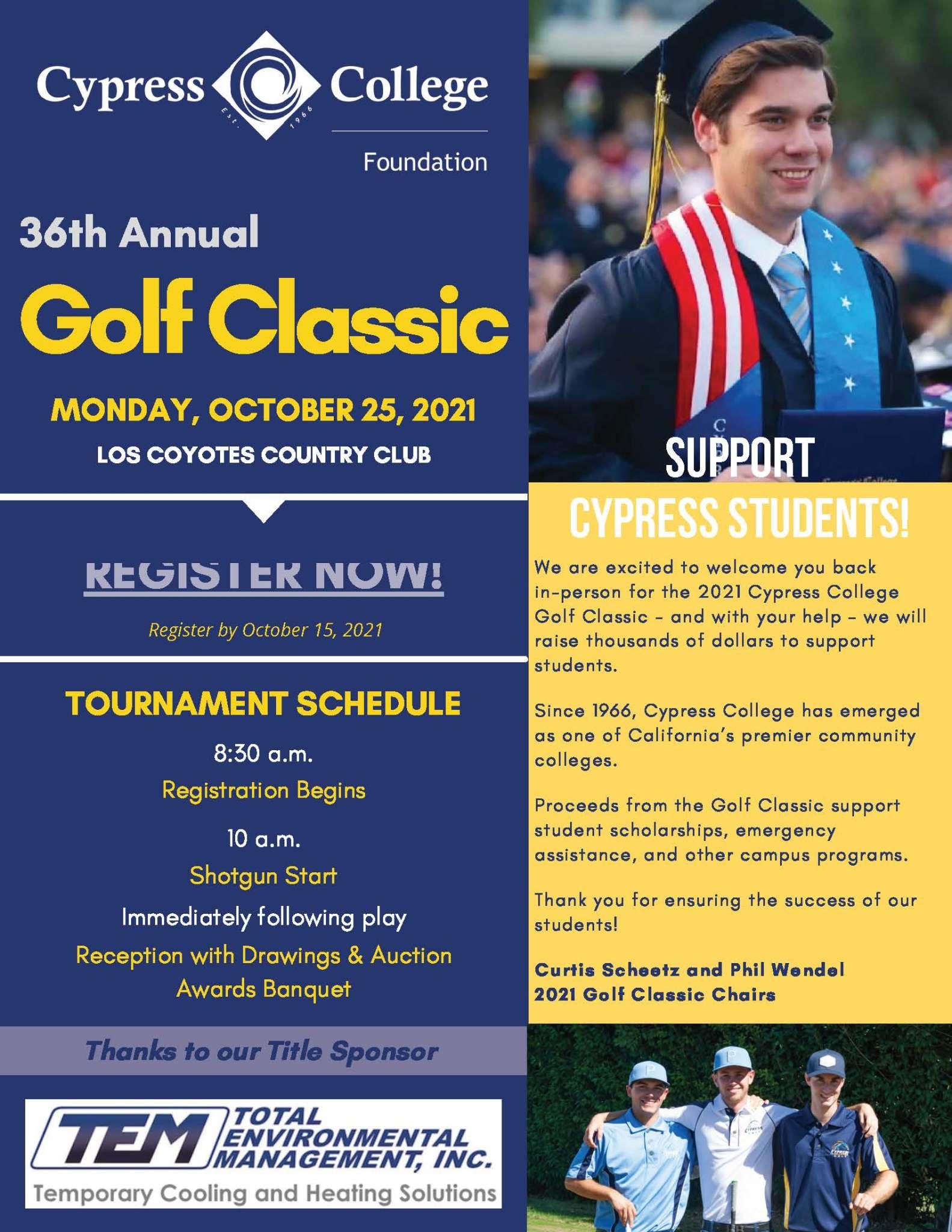 Golf Classic flyer