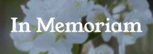 "Flowers with words ""In Memoriam"""