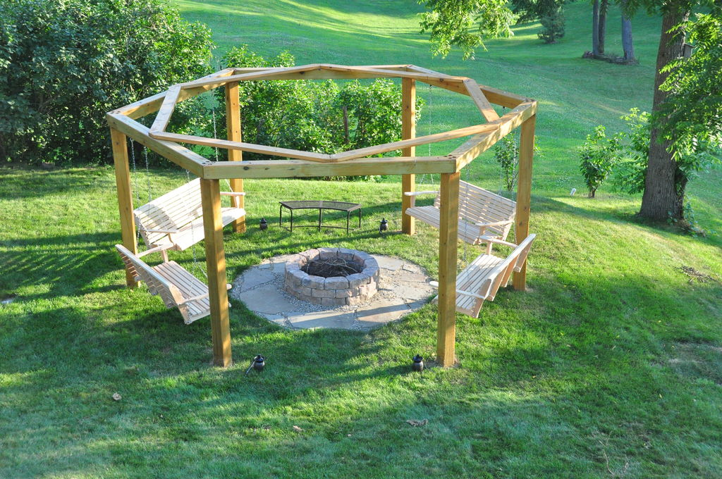 rocking chair footrest extra large moon with ottoman porch swings fire pit circle - patio outdoor