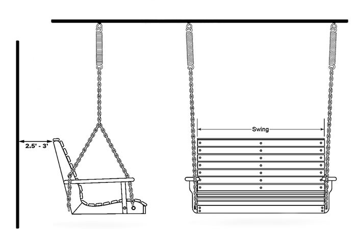 hanging chair loveseat old barber chairs how to install a porch swing - swings patio outdoor