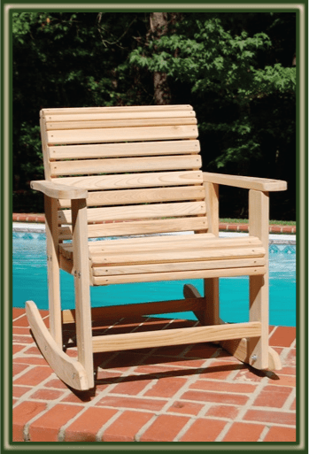 Cypress Rocking Chairs  Porch Swings  Patio Swings