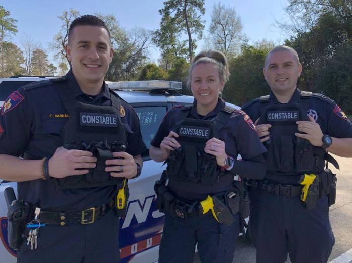 Precinct 4 Constable deputies equipped with hard armor. (Pct. 4 courtesy photo)