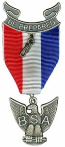 Eagle Scout rank award. (BSA)