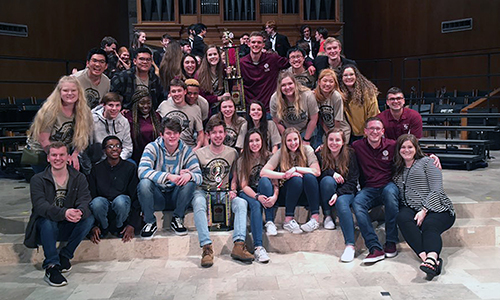 Cy-Fair High School's Cy-Fair Singers won the prestigious Madrigal & Chamber Choir Festival on March 2 at the Coker United Methodist Church in San Antonio. They finished first among 38 ensembles and were designated as the honor choir for the 2020 festival. (CFISD courtesy photo)